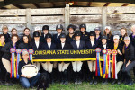 equestrian team posing for photo
