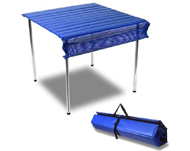 Photo of blue fordable table
